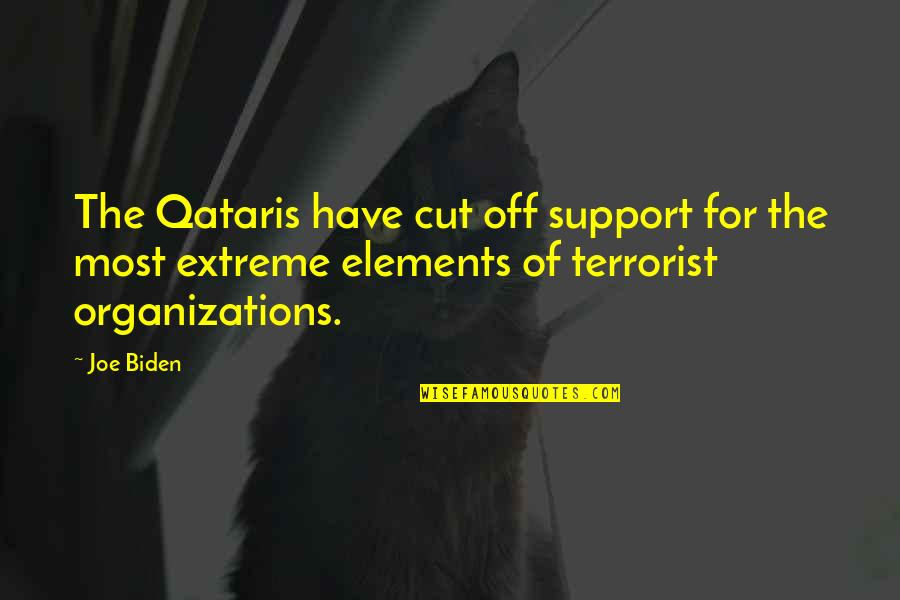 Elements Quotes By Joe Biden: The Qataris have cut off support for the