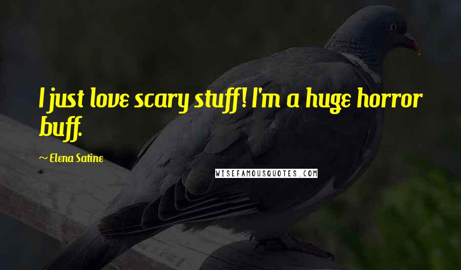 Elena Satine quotes: I just love scary stuff! I'm a huge horror buff.