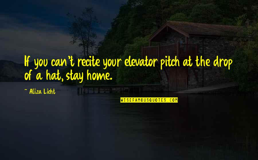 Elevator Pitch Quotes By Aliza Licht: If you can't recite your elevator pitch at