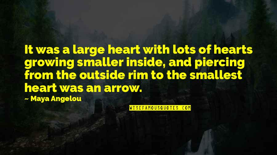 Eleventh Doctor Memorable Quotes By Maya Angelou: It was a large heart with lots of