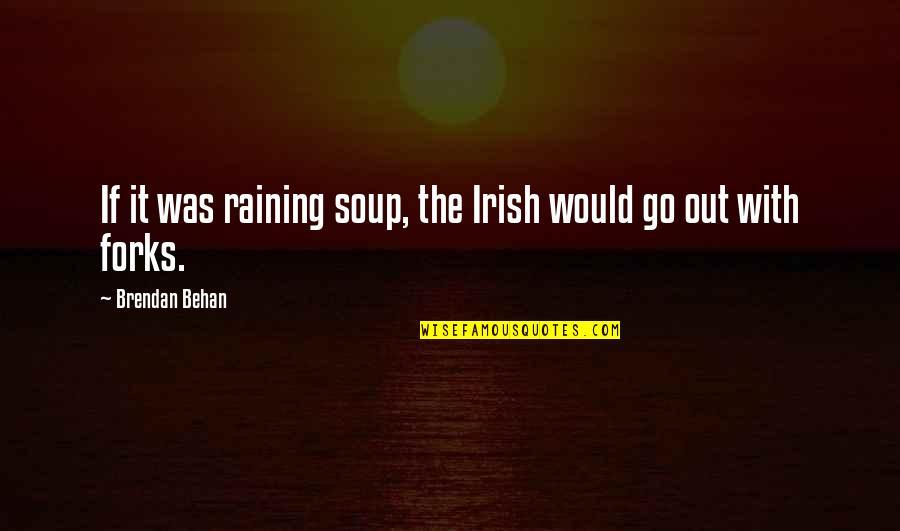 Elif Shafak Black Milk Quotes By Brendan Behan: If it was raining soup, the Irish would