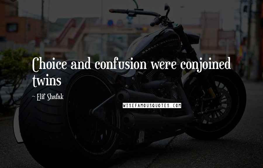 Elif Shafak quotes: Choice and confusion were conjoined twins
