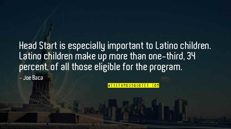Eligible Quotes By Joe Baca: Head Start is especially important to Latino children.
