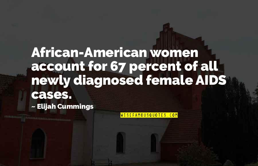 Elijah Quotes By Elijah Cummings: African-American women account for 67 percent of all