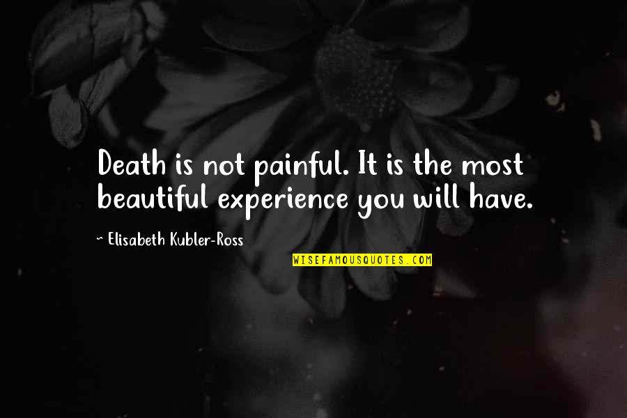 Elisabeth Kubler Quotes By Elisabeth Kubler-Ross: Death is not painful. It is the most