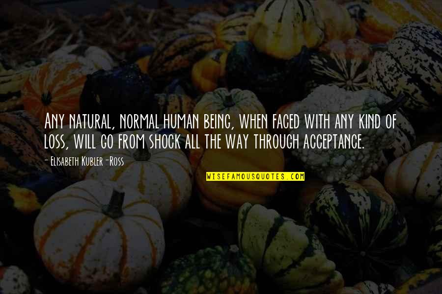 Elisabeth Kubler Quotes By Elisabeth Kubler-Ross: Any natural, normal human being, when faced with
