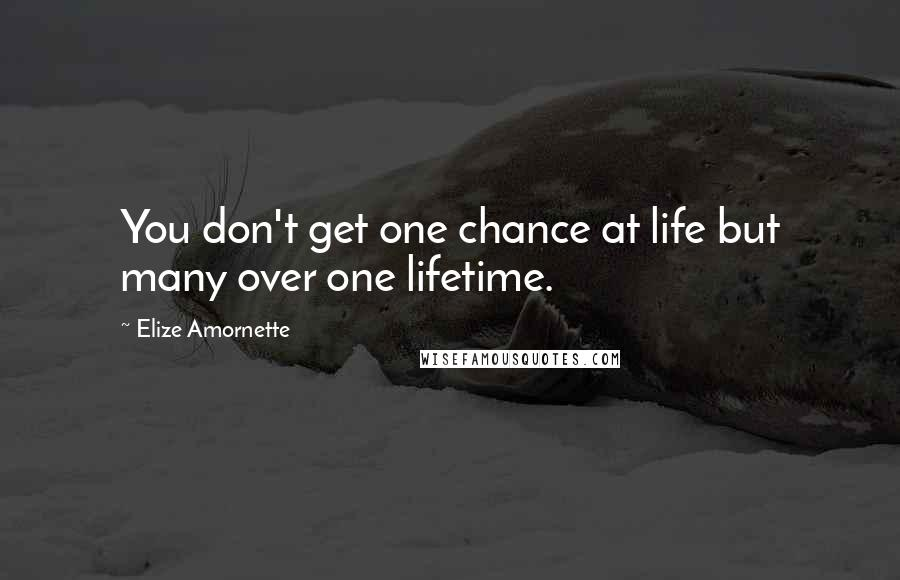 Elize Amornette quotes: You don't get one chance at life but many over one lifetime.