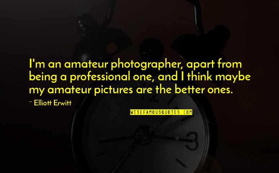 Elliott Erwitt Quotes By Elliott Erwitt: I'm an amateur photographer, apart from being a