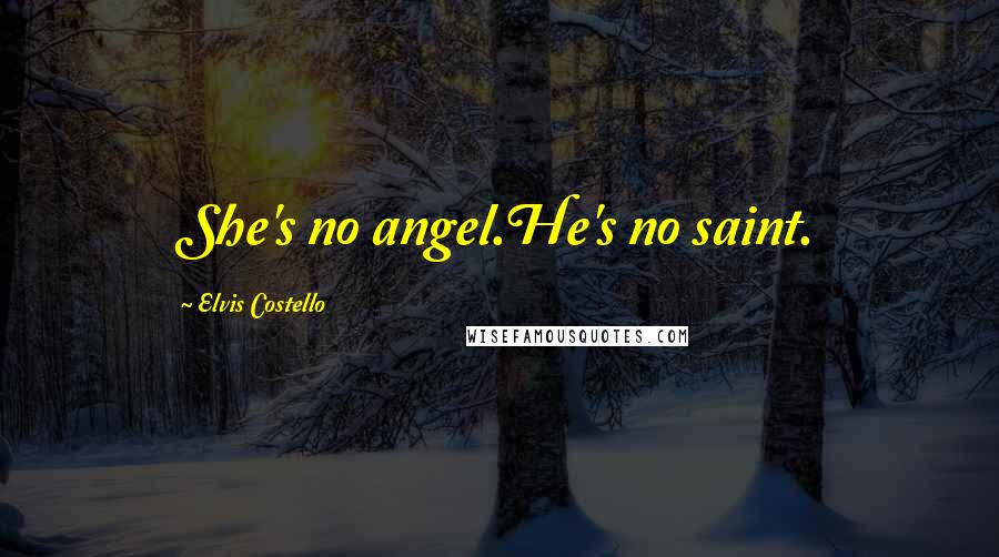 Elvis Costello quotes: She's no angel.He's no saint.