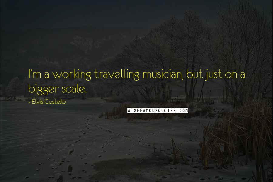 Elvis Costello quotes: I'm a working travelling musician, but just on a bigger scale.