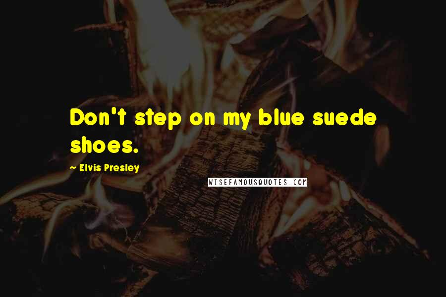Elvis Presley quotes: Don't step on my blue suede shoes.