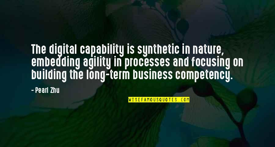 Embedding Quotes By Pearl Zhu: The digital capability is synthetic in nature, embedding
