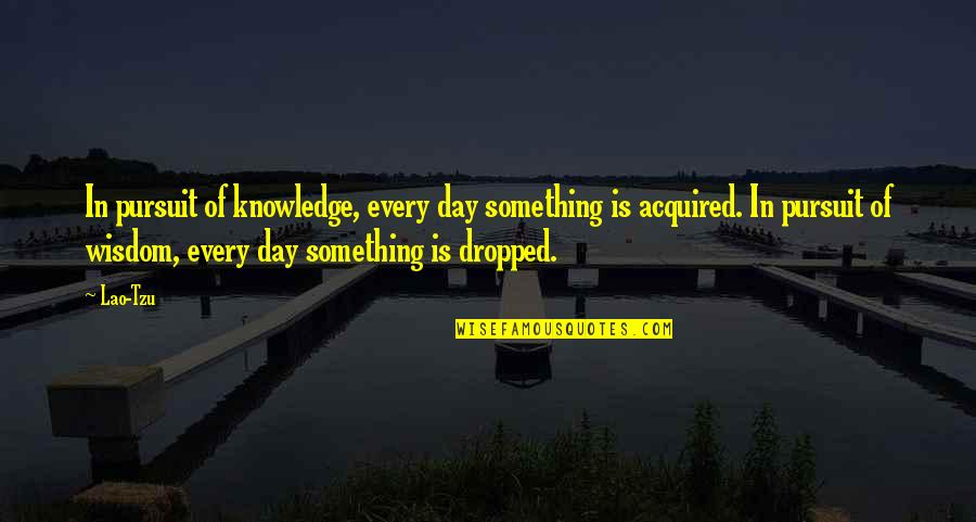 Emil Gilels Quotes By Lao-Tzu: In pursuit of knowledge, every day something is