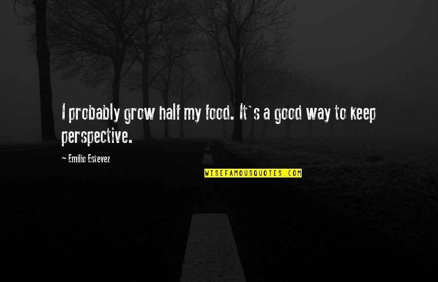 Emilio Quotes By Emilio Estevez: I probably grow half my food. It's a
