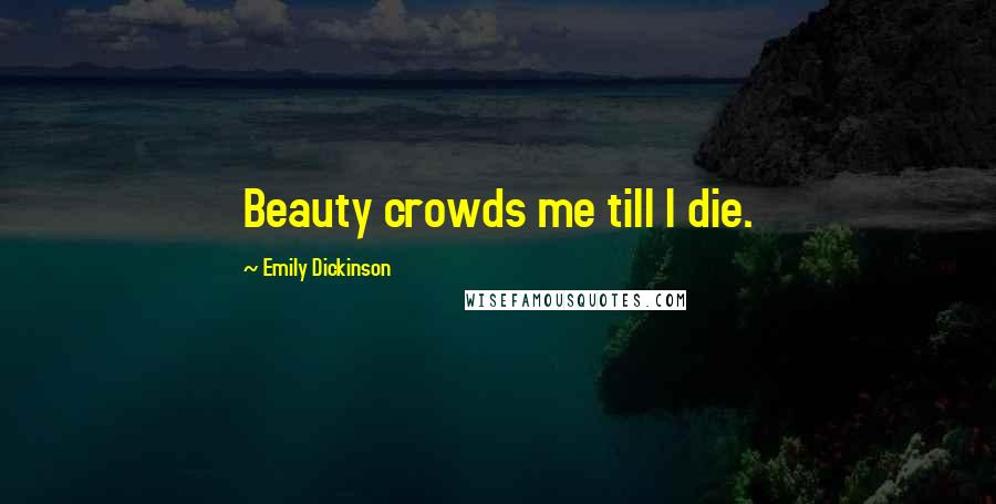 Emily Dickinson quotes: Beauty crowds me till I die.