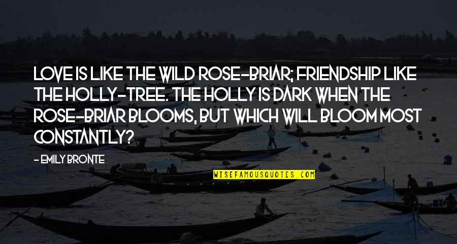 Emily In A Rose For Emily Quotes By Emily Bronte: Love is like the wild rose-briar; Friendship like