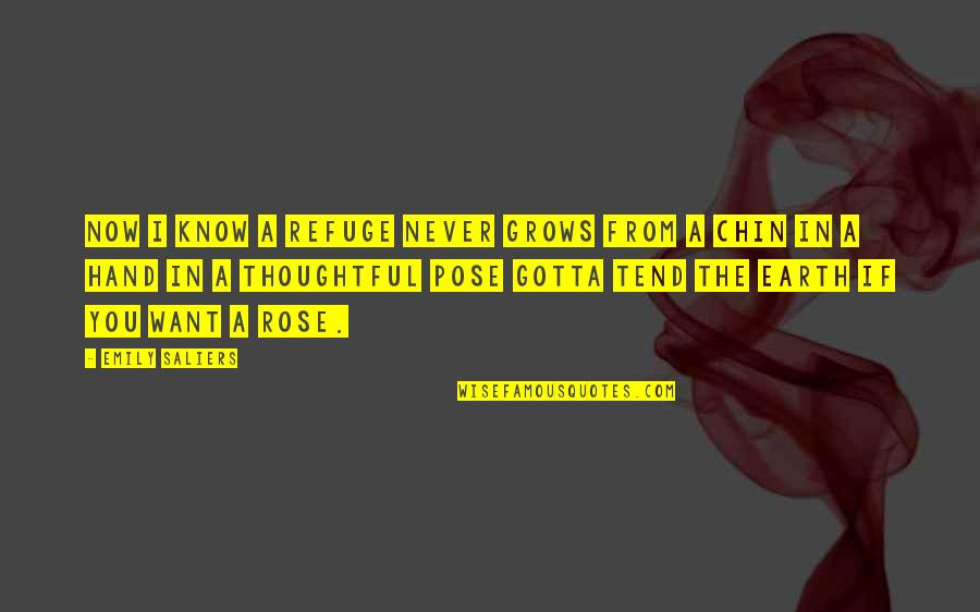 Emily In A Rose For Emily Quotes By Emily Saliers: Now I know a refuge never grows from