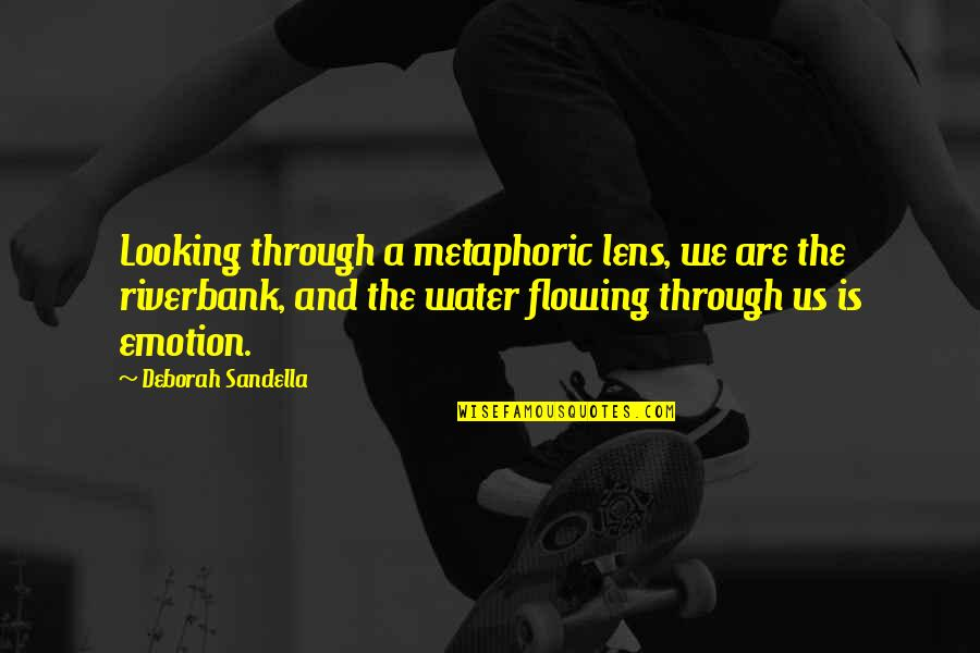 Emotion Quotes And Quotes By Deborah Sandella: Looking through a metaphoric lens, we are the