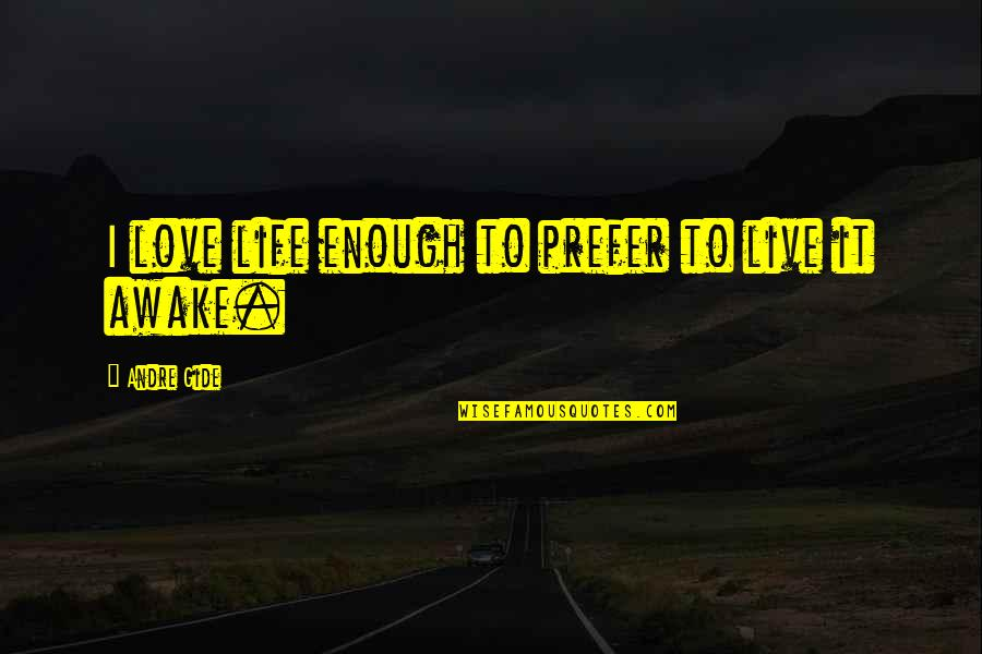 Employee Appreciation Inspirational Quotes By Andre Gide: I love life enough to prefer to live