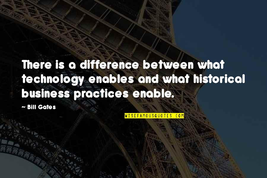 Enable Quotes By Bill Gates: There is a difference between what technology enables