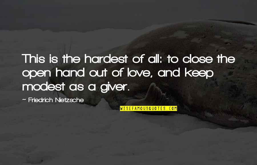 Enable Quotes By Friedrich Nietzsche: This is the hardest of all: to close