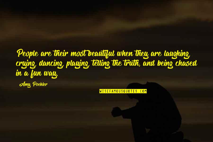 Encouragement For Today Quotes By Amy Poehler: People are their most beautiful when they are