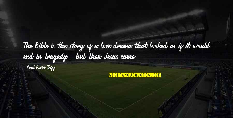 End Of The Love Story Quotes By Paul David Tripp: The Bible is the story of a love
