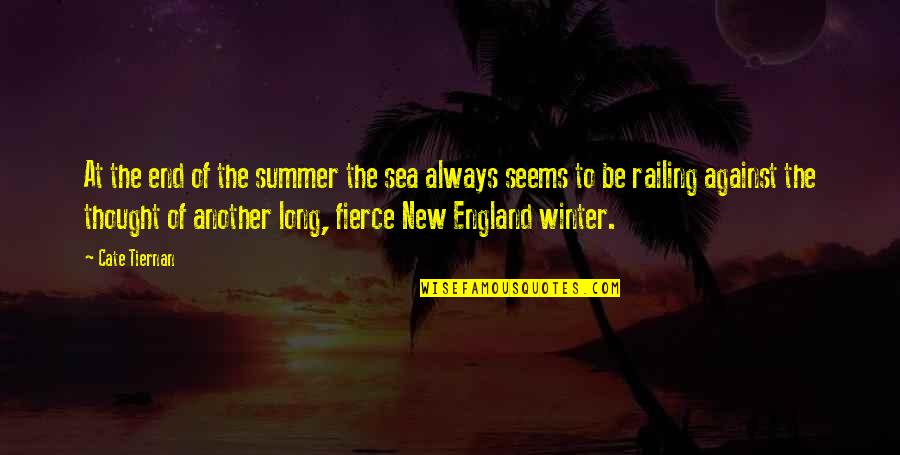 End Of The Summer Quotes By Cate Tiernan: At the end of the summer the sea