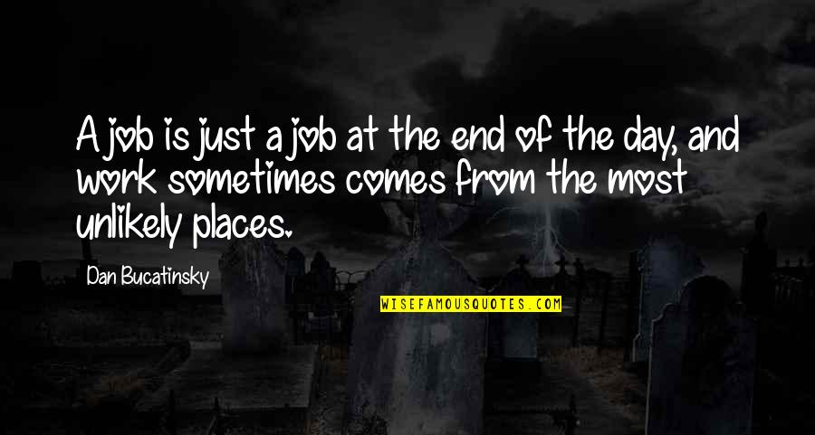 End The Day Quotes By Dan Bucatinsky: A job is just a job at the