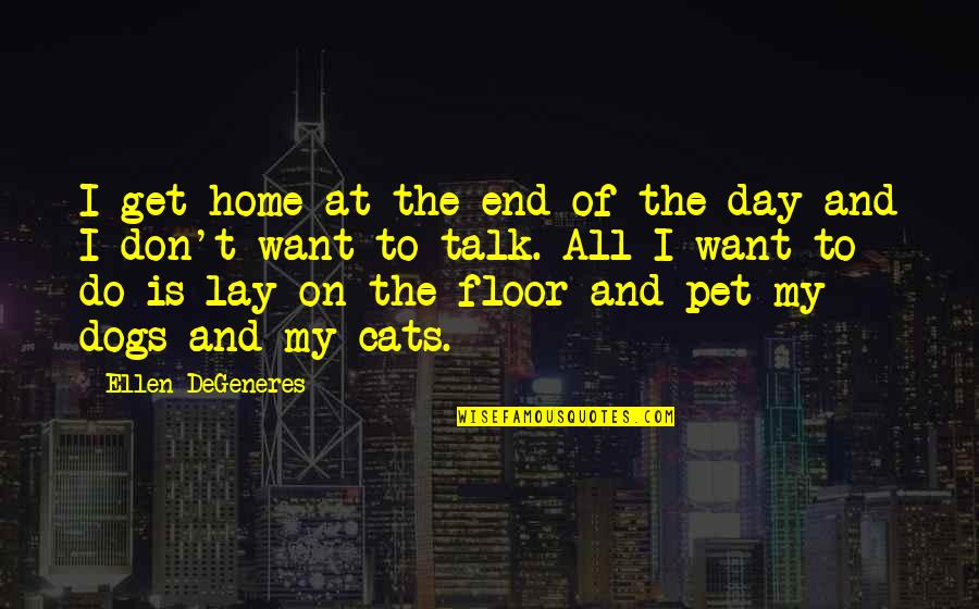 End The Day Quotes By Ellen DeGeneres: I get home at the end of the