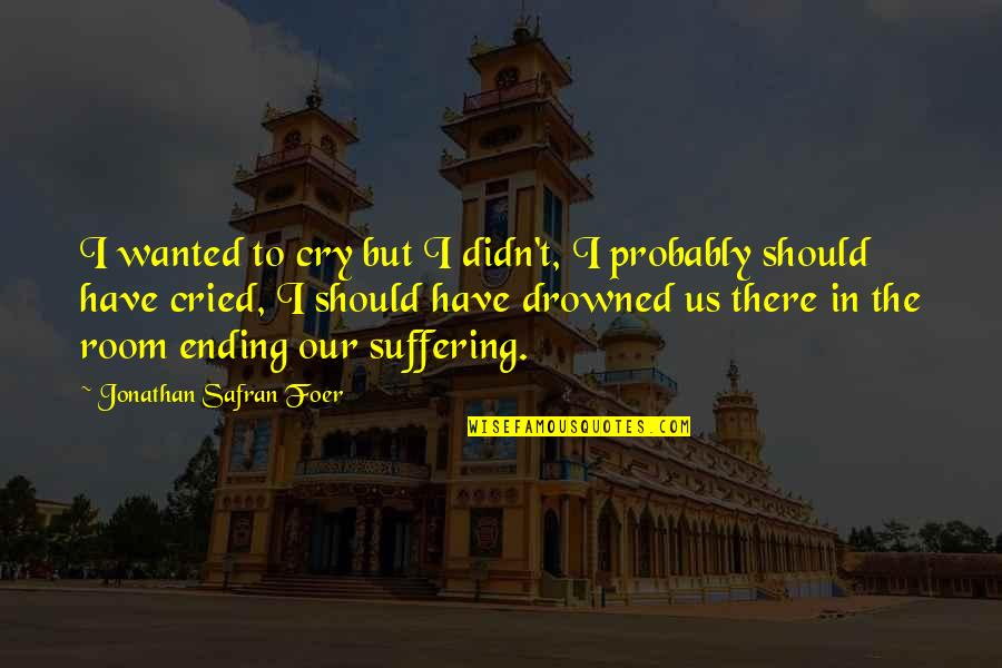 Ending Suffering Quotes By Jonathan Safran Foer: I wanted to cry but I didn't, I