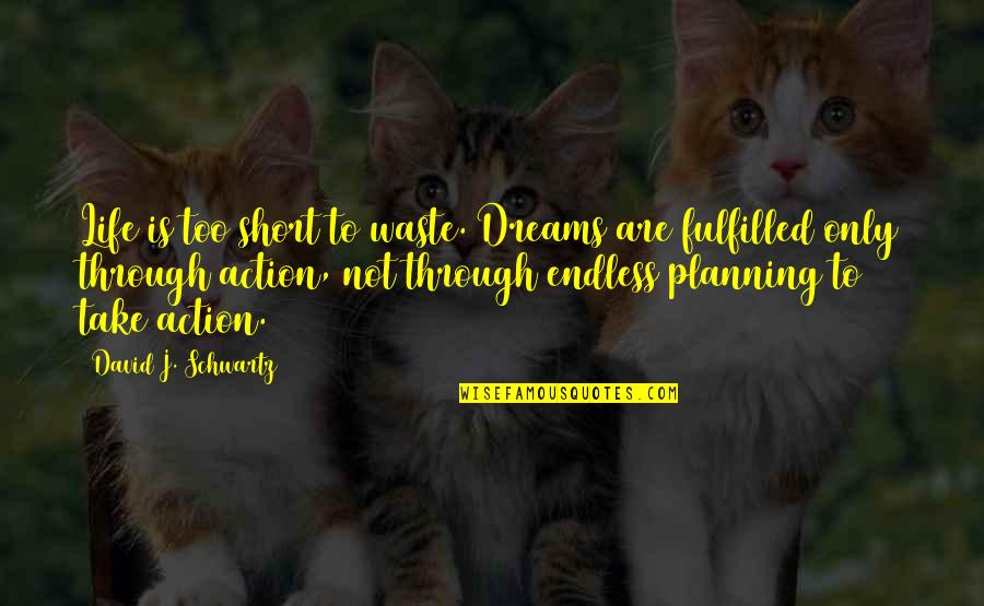 Endless Dreams Quotes By David J. Schwartz: Life is too short to waste. Dreams are
