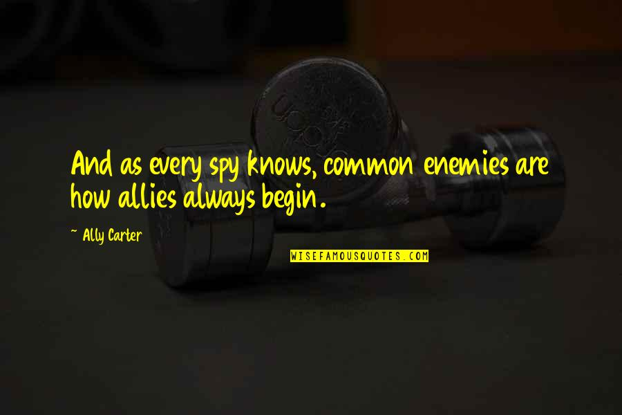 Enemies And Allies Quotes By Ally Carter: And as every spy knows, common enemies are