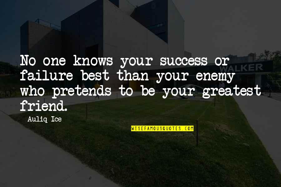 Enemy And Friend Quotes By Auliq Ice: No one knows your success or failure best
