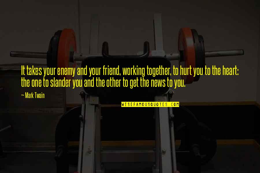 Enemy And Friend Quotes By Mark Twain: It takes your enemy and your friend, working