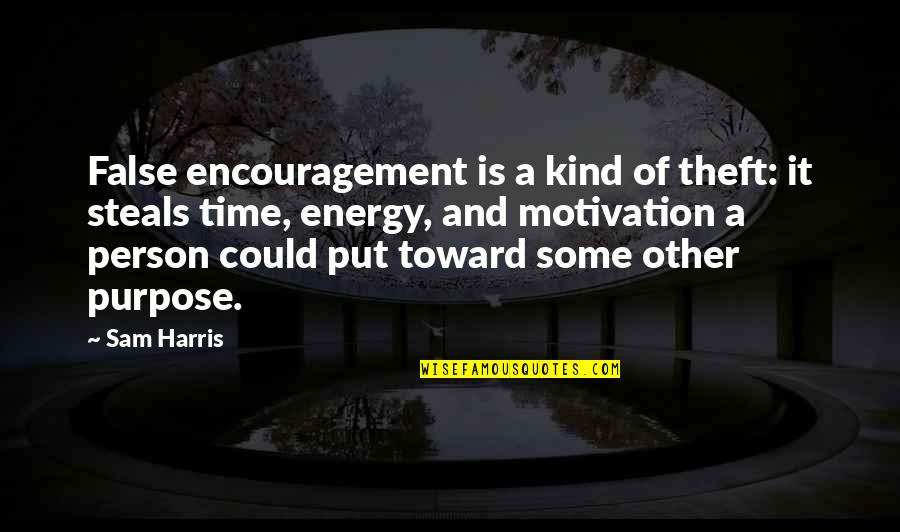 Energy And Motivation Quotes By Sam Harris: False encouragement is a kind of theft: it