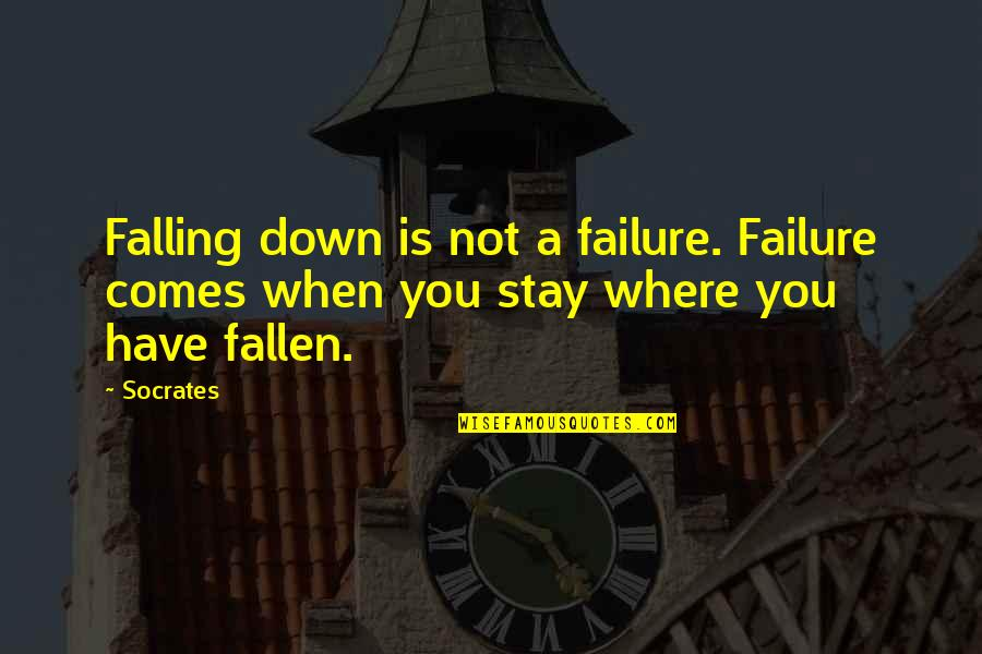 Energy Saving Short Quotes By Socrates: Falling down is not a failure. Failure comes