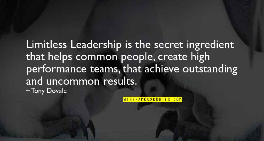 Engagement In The Workplace Quotes By Tony Dovale: Limitless Leadership is the secret ingredient that helps