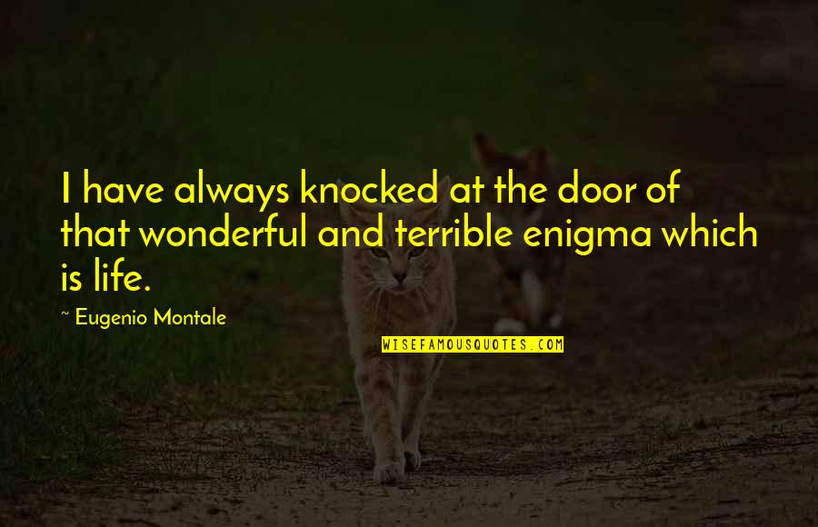 Enigma Quotes By Eugenio Montale: I have always knocked at the door of