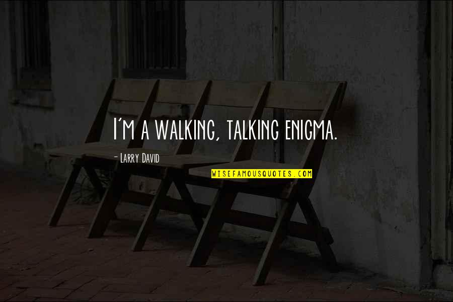 Enigma Quotes By Larry David: I'm a walking, talking enigma.