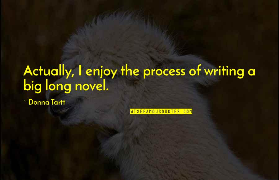 Enjoy The Quotes By Donna Tartt: Actually, I enjoy the process of writing a