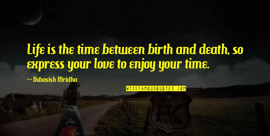 Enjoy Your Happiness Quotes By Debasish Mridha: Life is the time between birth and death,