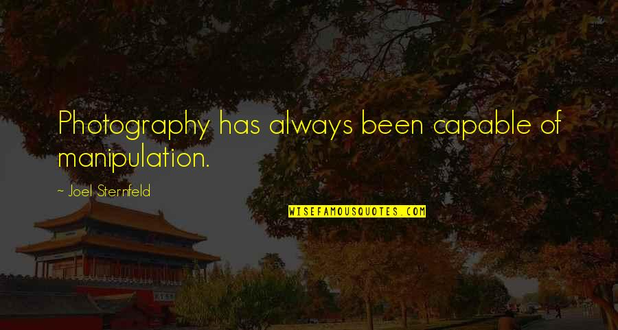 Enjoying Rainy Season Quotes By Joel Sternfeld: Photography has always been capable of manipulation.