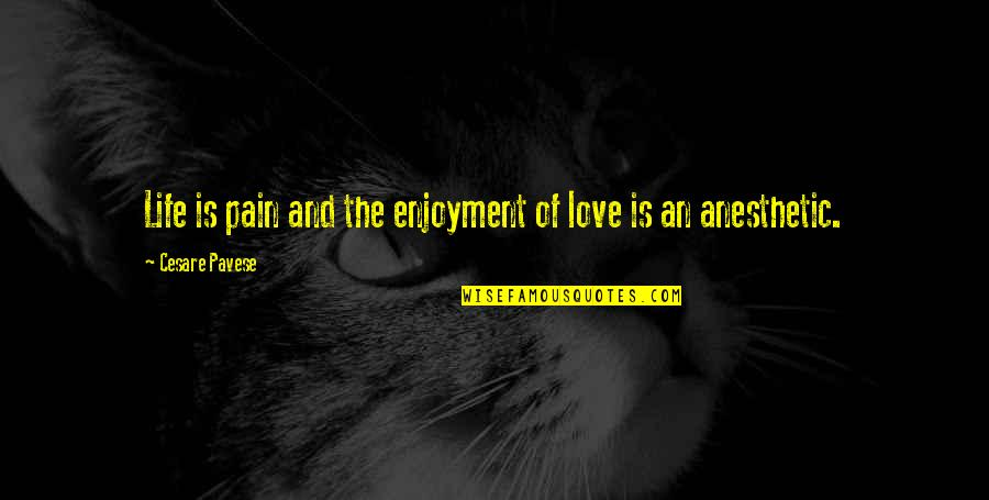 Enjoyment Of Life Quotes By Cesare Pavese: Life is pain and the enjoyment of love