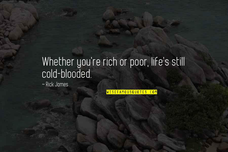 Enlightenment Buddha Quotes By Rick James: Whether you're rich or poor, life's still cold-blooded.
