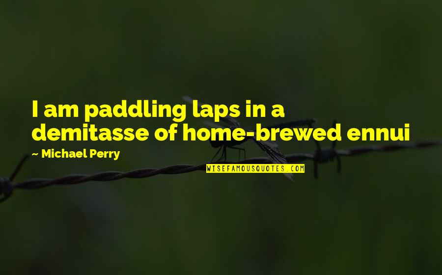 Ennui Quotes By Michael Perry: I am paddling laps in a demitasse of