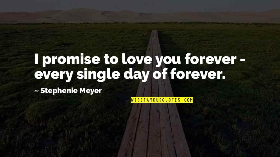 Enterprise System Quotes By Stephenie Meyer: I promise to love you forever - every