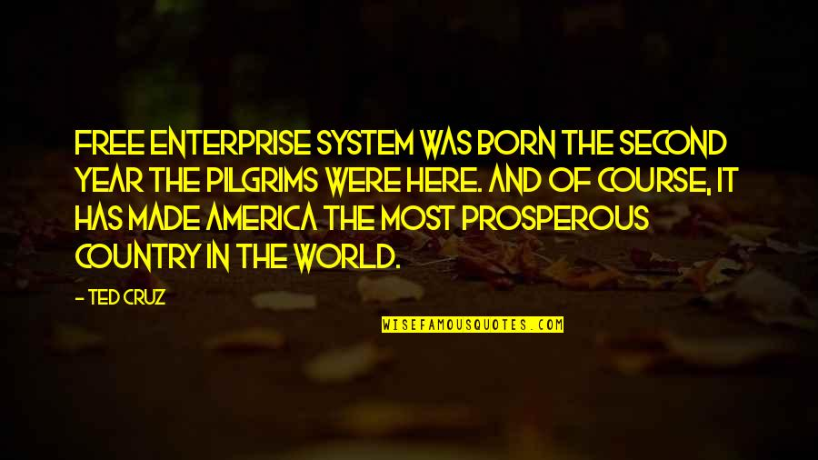 Enterprise System Quotes By Ted Cruz: Free enterprise system was born the second year