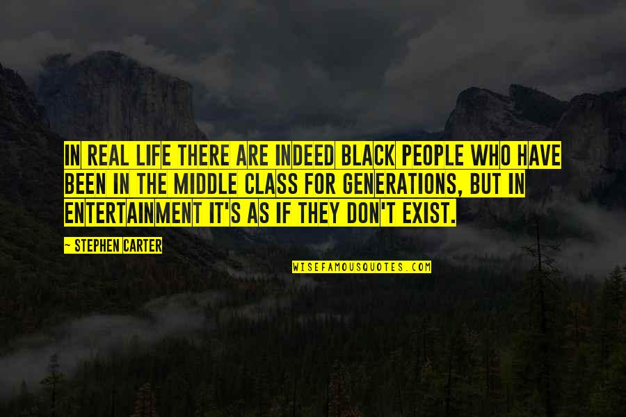 Entertainment Plus Quotes By Stephen Carter: In real life there are indeed black people