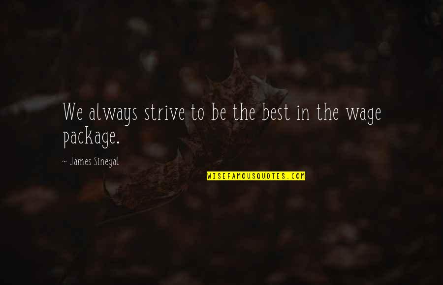 Entice Quotes By James Sinegal: We always strive to be the best in